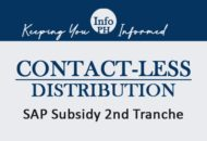 Distribution of SAP Subsidy 2nd Tranche