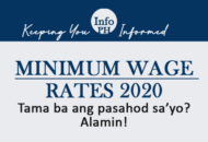 Minimum Wage Rates in NCR 2020